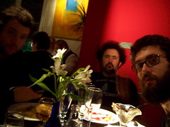 DOM ANDY & GLK AT DINNER IN BARCELONA