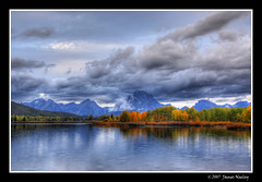 Autumn Morning at Oxbow (James Neeley) Tags: autumn mountains fall landscape searchthebest tetons hdr oxbow grandtetonnationalpark oxbowbend 5xp jamesneeley