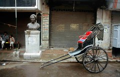 India streets: Indira and Rickshaw - Calcutta