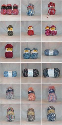 Sock yarn Mosaic