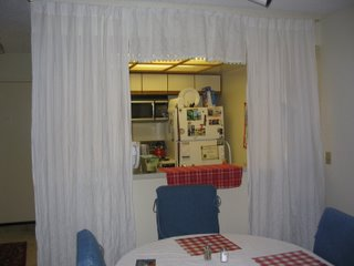 Kitchen Curtains from Living Room
