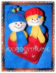 Corao amiguinhos. (anananet) Tags: natal boneco noel gato borboleta cachorro feltro boneca caveira santo vender comprar chaveiro boche