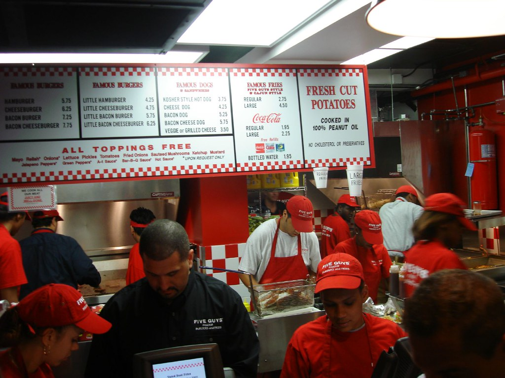 Five Guys is NYC's Closest Thing to In N Out Burger
