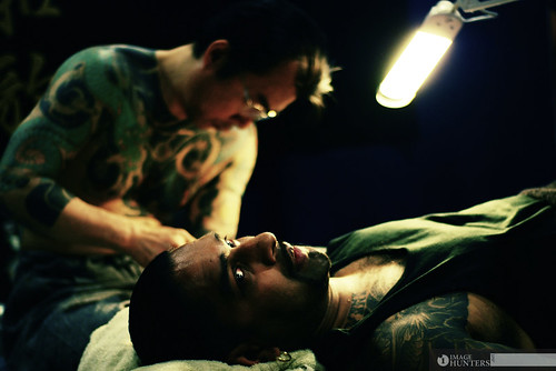 Tattoo Artist at work.