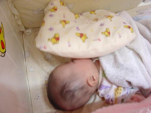 一大早,發現Schnappi睡成這樣