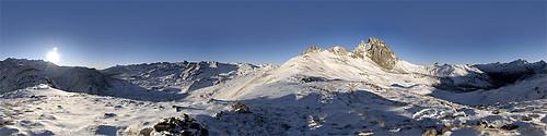 Panoramique - Pic du Midi d'Ossau - Cirque d'Anéou