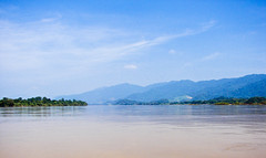 On the left, Burma; on the right, Laos