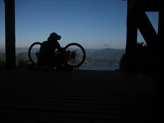 Running Maintenance (B A Hockman) Tags: newzealand sun bike freedom ride riding views nz mtb shelter doc ontheroad touring onthetrail queencharlottesound singletrack departmentofconservation queencharlottetrack bayofmanycoves onyerbike marlboroughexploration