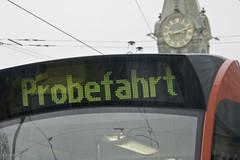 Probefahrt Bahnhofplatz retour