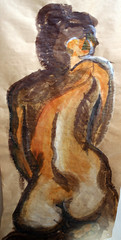 """Figure Study in Brown • <a style=""""font-size:0.8em;"""" href=""""http://www.flickr.com/photos/45675389@N00/2113681129/"""" target=""""_blank"""">View on Flickr</a>"""