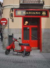 Red Scooter (kevinparis) Tags: madrid red scooter explore