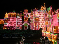 it's a small world, Disneyland (jericl cat) Tags: world christmas holiday night facade lights evening disneyland small nighttime itsasmallworld afterdark