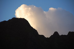 One Cloud (AH in Pgh) Tags: light cloud white abstract mountains silhouette hawaii oahu koolaumountains windwardoahu kualoapark camerahaiku kualoaregionalpark haphazart