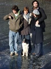 Vronique et les siens (rouppe14) Tags: famille david elise nol fellow vronique lapin tanguy glace etang delvoye fenffe