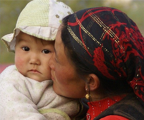 Kazakh mother and baby