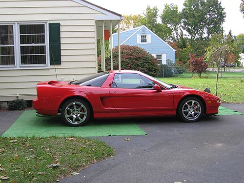 red 1996 acura nsx