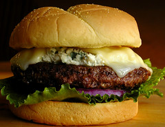 Bleu Cheese Burger (Gayla J.) Tags: food beef burger cheeseburger hamburger grilled bluecheese bleucheese