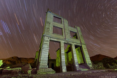 the past recedes (Mac Danzig Photography) Tags: longexposure night ruins nevada astrophotography ghosttown deathvalley rhyolite startrails ostrellina macdanzigphotography macdanzigphotography