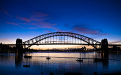 Sydney Harbour Bridge at Dawn (ultraflyweight) Tags: bridge sunrise dawn sydney sydneyharbour sydneyharbourbridge