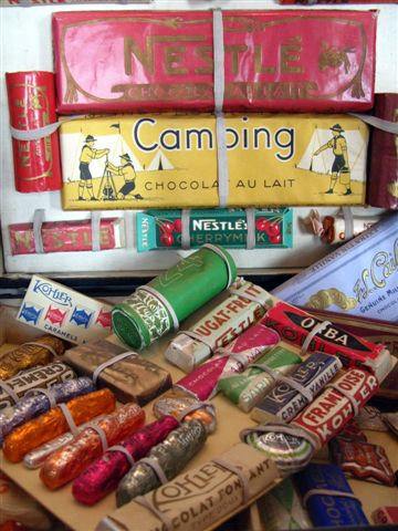 vintage chocolate bars