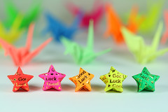 Good Luck! (bw.futures) Tags: colour art paper stars star origami colorful colours vietnam cranes lucky colourful saigon goodluck papercranes luckystars paperstars canoneosdigitalrebelxti colorphotoaward aplusphoto colourartaward artlegacy bwfutures luckypaperstars beyondbokeh