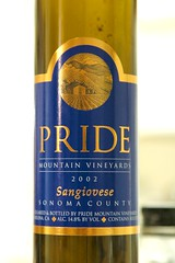 2002 Pride Mountain Vineyards Sonoma County Sangiovese