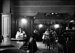 Caff Kafka (Leica Summicron 28mm TriX400-bw) (abschied) Tags: leica bw prague alarecherchedutempperdu