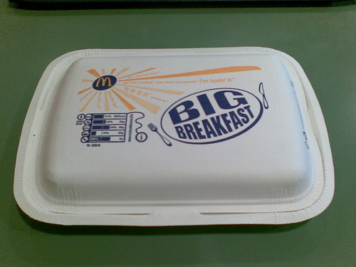 mcdonalds cardboard big breakfast