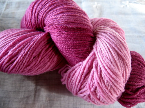 hand dyed sock yarn, Plum