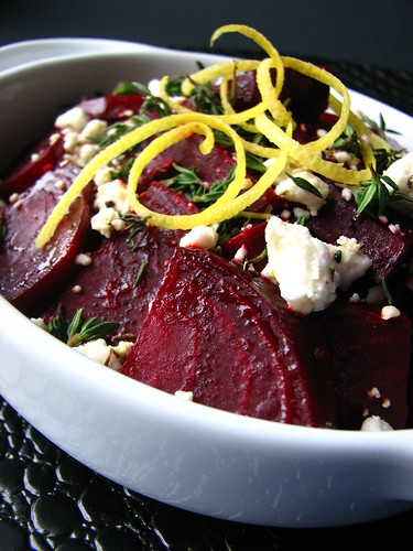 Lemon Roasted Beets with Thyme and Feta II