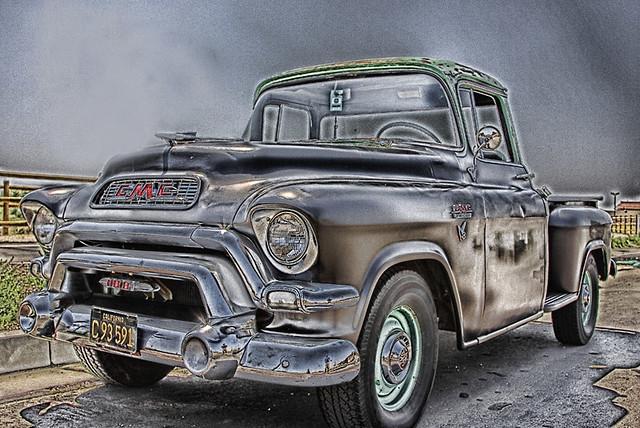 santa black truck pickup 1956 gmc hdr 56 clarita lucis canon40d