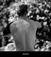 biker (S. Lo) Tags: travel shirtless bw shirt biker luxembourg