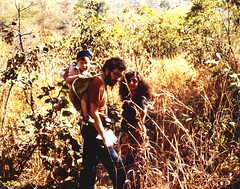Me, a friend of mine and her son (on my back) hiking from Bandafassi to Etywar in southeast Sngal (West Africa) (gbaku) Tags: africa west history forest children town village child hiking spirit african trails villages hike historic spirits trail westafrica afrika historical senegal anthropologie towns anthropology hikes genie africain afrique ethnography ethnology sngal africaine genies westafrican ethnologie bedik afrikas bandafassi etywar