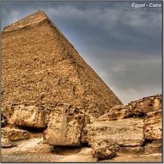 Chephren (HDR) (Lars Tinner) Tags: africa pyramid egypt cairo pyramids egipto pyramide gypten hdr egipte gizeh chephren pyramiden kairo elcairo gyptenegypt elcaire wwwtinnersg httpwwwtinnersg tinnersg