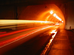 (D. Ingraham) Tags: city longexposure urban motion color night losangeles experimental tunnel lighttrails streaks