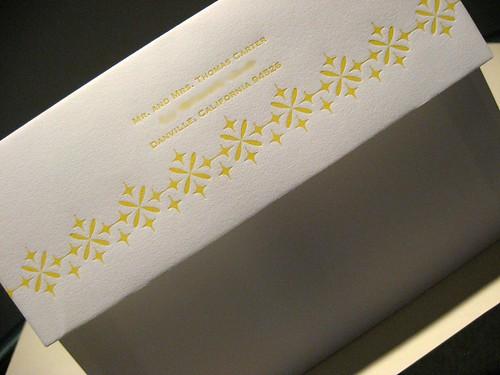 Twinkle Twinkle Letterpress Wedding Invitation - Envelope Closeup, Wedding card, wedding invitation designs, wedding invitation samples, wedding plan., wedding cakes, flowers, invitation, photos, gowns, dresses