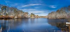 Frozen mirror (Vintus Okonkwo fotografi) Tags: trees sky blue outdoor nature landscape river lake toyon craigville barnstable capecod exposure blending reflection spring cold frozen