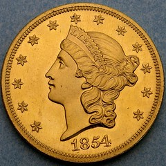 1854-S Double Eagle Obverse
