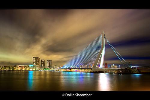 Erasmus Bridge (2) - Rotterdam ::HDR