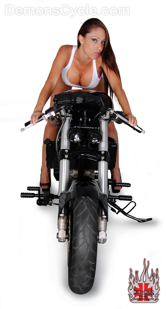 suzuki pro-street custom motorcycle 1000 demons cycle hot girl 7