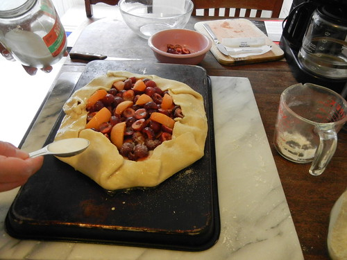 Peach and Cherry Galette _ 3029
