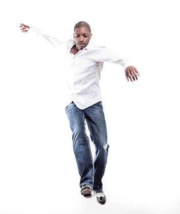 jovon dancing on white