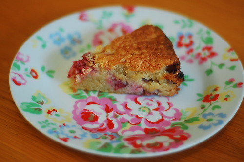 Blackcurrant and almond cake