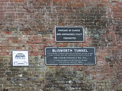 Blisworth Tunnel Sign (crwilliams) Tags: sign canal tunnel date:year=2005 date:month=september date:day=21 date:hour=11 date:wday=wednesday