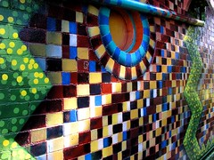 The Wall (Bruce Cooke) Tags: colour brick art wall bravo mosaic sydney australia olympus explore nsw 2007 ilovethisplace e500 madphotographer guesswheresydney anawesomeshot