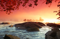 Misty James (frankeys creation) Tags: mist fog sunrise river virginia rocks richmond soe jamesriver splendiferous flickrsbest shieldofexcellence anawesomeshot diamondclassphotographer flickrdiamond ysplix thebestofgodscreation