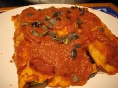 Potato and kale enchiladas (EFCLiz) Tags: vegan veganomicon