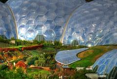 Outside The Rainforest Biodome (Stuart Herbert) Tags: uk england green gardens europe cornwall stu edenproject location projects biodome technique hdr touristattraction 5xp generalphotography