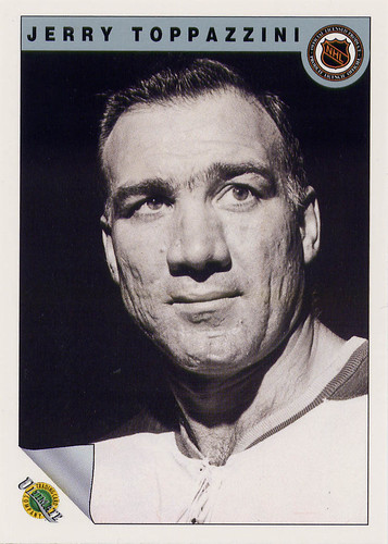 Jerry Toppazzini, Boston Bruins, Ultimate Original 6, 1992, NHL 7th anniversary, hockey card, hockey cards