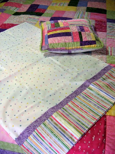 Hayley's Quilt, Pillowcase and pillow